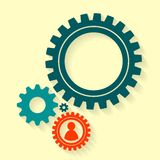 Gears back Royalty Free Stock Images