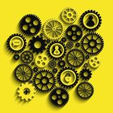 Gears Background Royalty Free Stock Photos