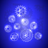 Gears  background abstract illustration icon Royalty Free Stock Image