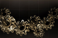 Gears background Black, horizontal Royalty Free Stock Photo