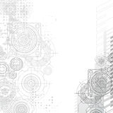 Gears background, blueprint. Royalty Free Stock Photos