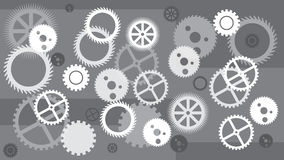 Gears background. Concept of motion. Technology. GREY white. Stock Photo