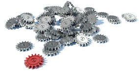 Gears background, 3d technology and business Royalty Free Stock Image