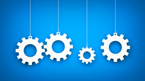 Gears background Stock Photography