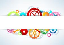 Gears background,  illustration Royalty Free Stock Photography