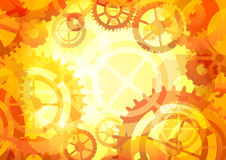 Gears background,  illustration Stock Photography