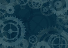 Gears  background,  illustration Royalty Free Stock Photos