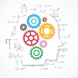 Gears background with physics formula. Royalty Free Stock Photos