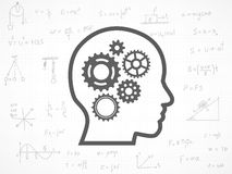Gears background with physics formula Royalty Free Stock Photo