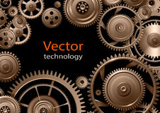 Gears background, teamwork and precision concept. Vector design Royalty Free Stock Images