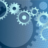 Gears background with technical grid. Abstract background Royalty Free Stock Photography