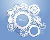 Gears background white color. vector illustration