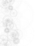 Gears background white 01. Drawing gears on a gray background, vector illustration clip-art Stock Image