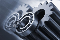 Gears and balls stock images