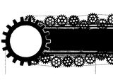 Gears banner Stock Images