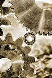 Gears, bearings and technology Royalty Free Stock Photography