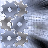 Gears Binary Royalty Free Stock Photos