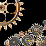 Gears on black background Royalty Free Stock Images
