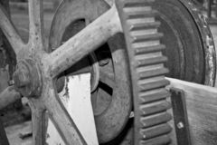 Gears in Black and White Stock Photos