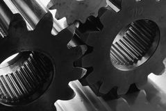 Gears in black/white stock photo