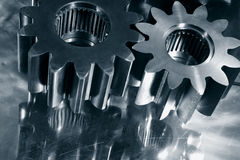 Gears in blue concept Royalty Free Stock Photo