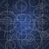 Gears blueprint Royalty Free Stock Image