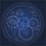 Gears blueprint Royalty Free Stock Images