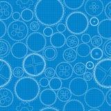 Gears blueprint Stock Image