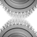 Gears and  blured gears Royalty Free Stock Photography