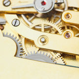 Gears of brass mechanical movement of retro watch Royalty Free Stock Photography