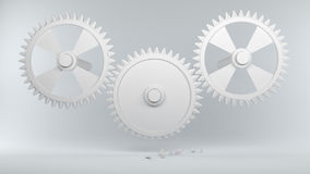 Gears with broken teeth symbolize Error in the System Stock Image