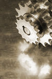 Gears in brown Stock Image