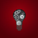 Gears bulb Royalty Free Stock Image