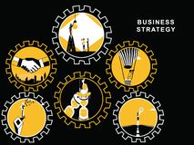 Gears with Business Activities royalty free illustration