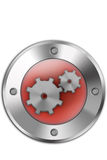 Gears button Royalty Free Stock Image