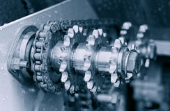 Gears and chain Royalty Free Stock Photo