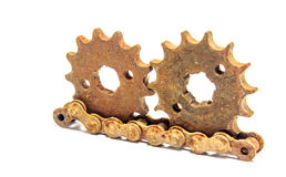 Gears chain old Royalty Free Stock Images