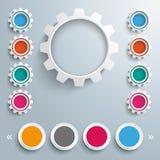 Gears 4 Circles Template Design Royalty Free Stock Photos
