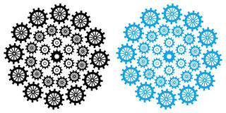 Gears Circular Black Blue Stock Images