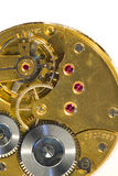 Gears of a clock. Close up of gears of a clock Stock Photography