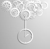 Gears of Clock Vector Illuastratoin. EPS10 Stock Image