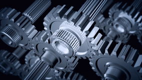 Gears. Close-up of rotating gears stock footage