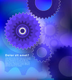 Gears and cog abstract design with copy space Royalty Free Stock Photo