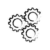 Gears cog wheel. Icon vector illustration graphic design Stock Photo