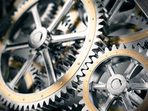 Gears cog wheels concept. 3d illustration Royalty Free Stock Photo