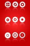 Gears And Cog Wheels Icons Set Stock Photos
