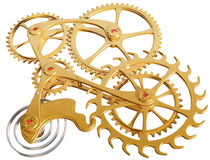 Gears and cogs. Isolated illustration of precision cogs and gears Royalty Free Stock Photos