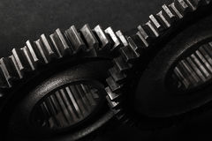 Gears and Cogs. Image of gears and cogs photographed in high detail Royalty Free Stock Photos