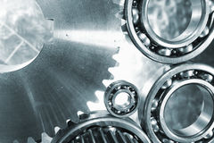 Gears, cogs and ball-bearings Stock Images