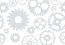 Gears and cogs gray background. Vector illustration.  Royalty Free Stock Image